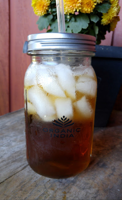 Mediterranean orchard iced tea on the front porch
