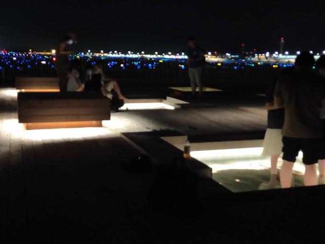 羽田イノベーションシティ足湯:夜