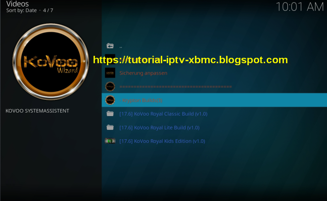 Kovoo Royal Build Kodi - Bestes Deutsches Kodi Build Addons