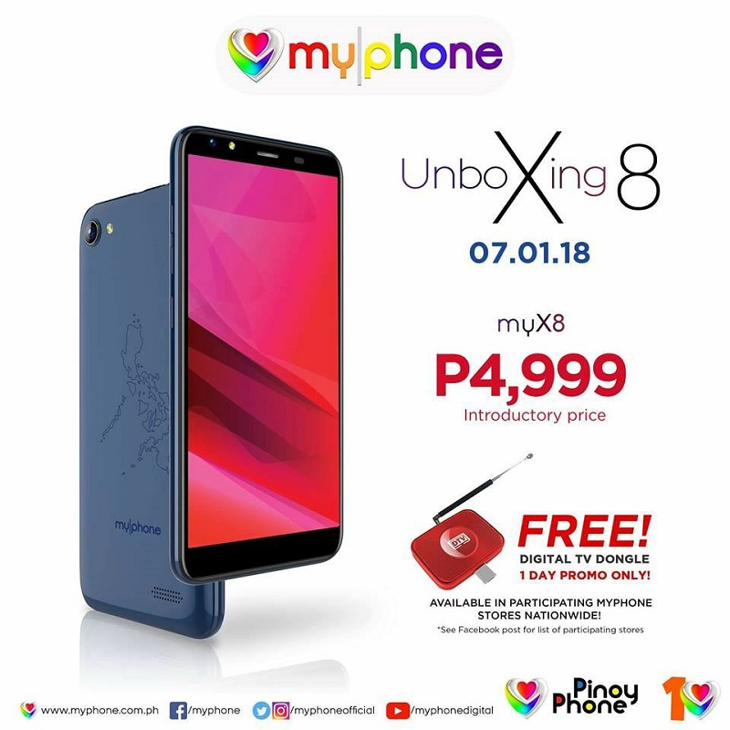 MyPhone myX8 with a HUG battery of 4000mAh is priced at PHP 4,999!