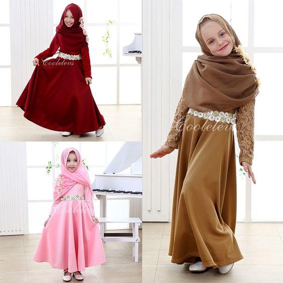 20 Desain Model Baju Muslim Anak Perempuan Terbaru 2018