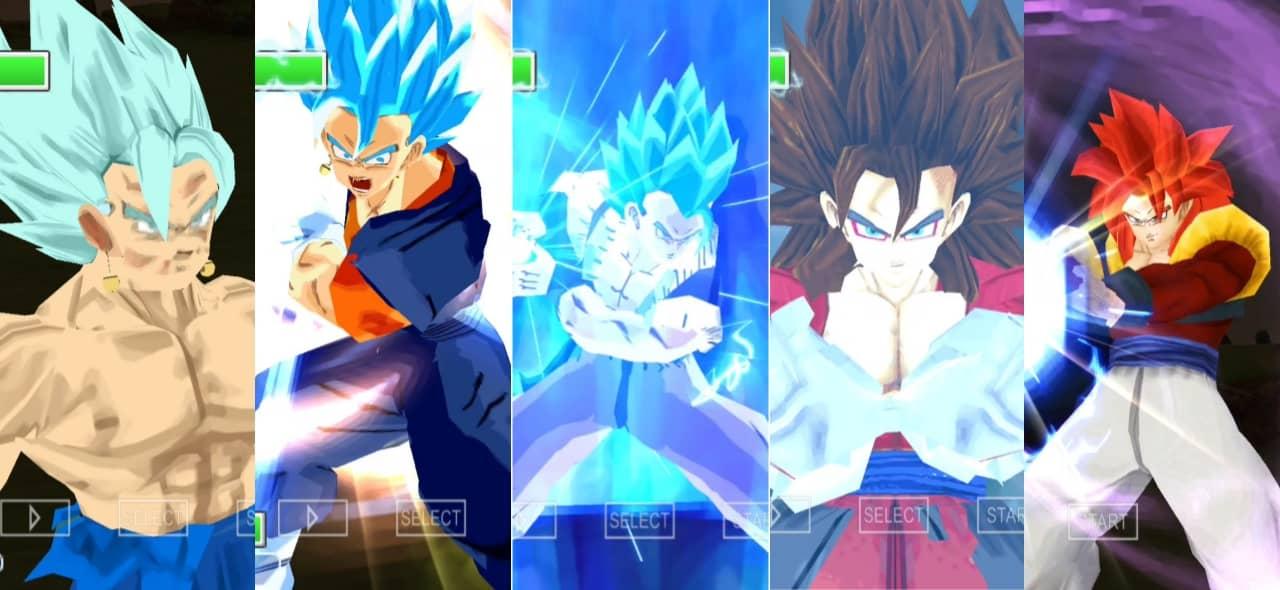 Xeno Vegito SSJ4 Vs Vegito Blue Dragon Ball