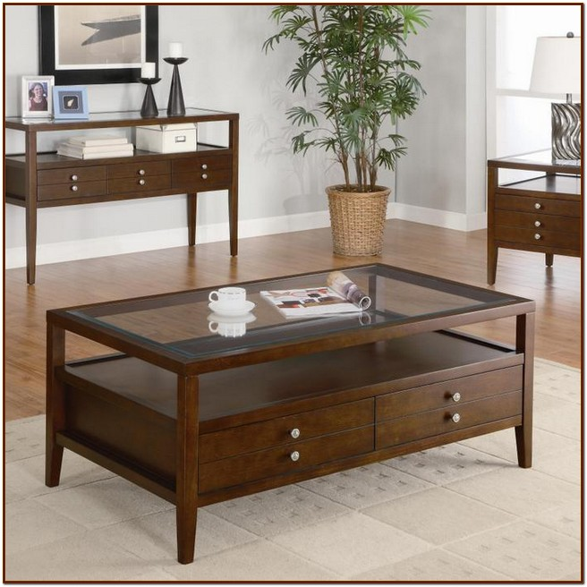 Glass Top Coffee Table With Drawers: Glass Top Coffee Table Ideas