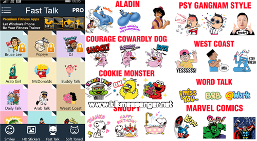 Chat Stickers Famous for Kik para Windows Phone
