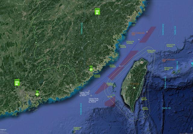Taiwan strait, China, Taiwan,