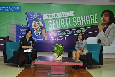 Motivational Speaker and Author Sfurti  Sahare launched her new book 'The Monkey Theory' at Jagran Lakecity University