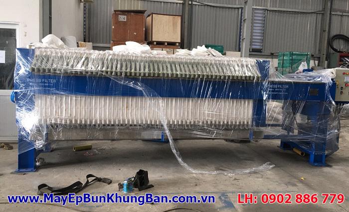 Máy ép bùn khung bản Việt Nam Vĩnh Phát có sẵn trong showroom trưng bày