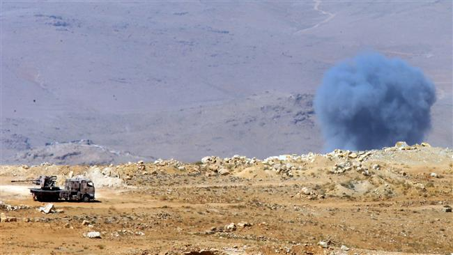 Daesh Takfiri terrorist group fires several rockets into Lebanon, army shells terrorists' positions