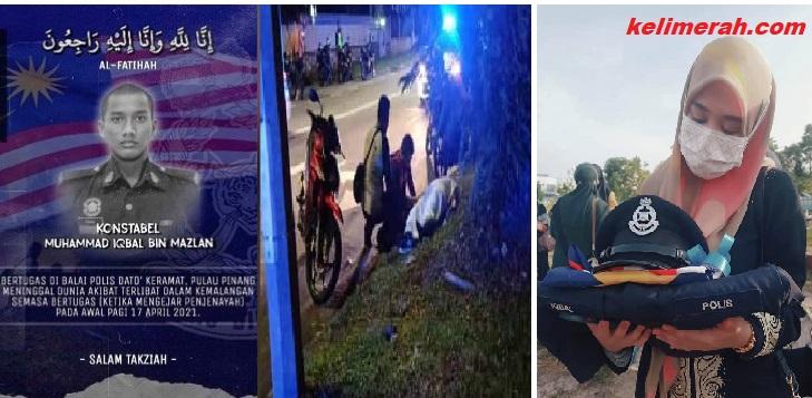 Maut Kemalangan Ketika Kejar Penjenayah Jenazah Anggota Polis Selamat Dikebumikan