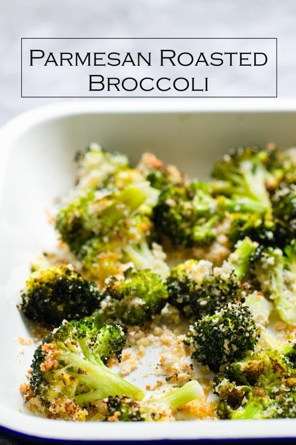 Roasted Broccoli with Garlic and Parmesan Cheese is simple and healthy side dish.