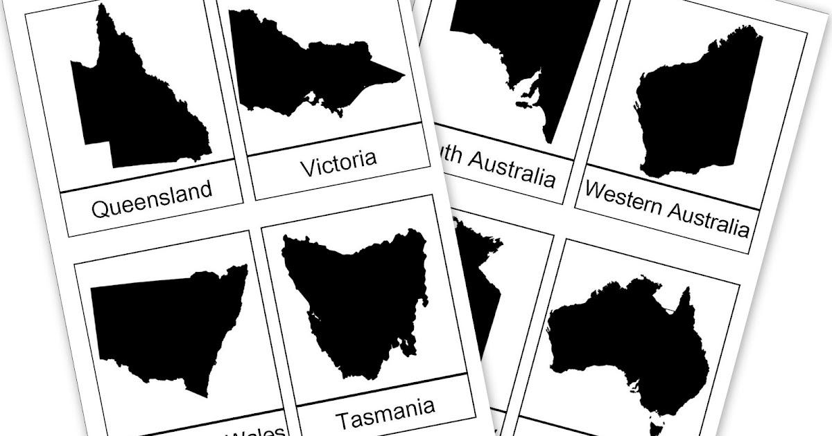 Australian States Printable