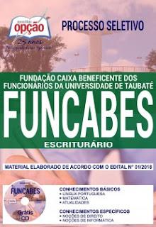 Baixar apostila Concurso FUNCABES 2018 PDF
