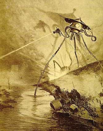 Trípodes marcianos de La guerra de los mundos, de H.G. Wells - Cine de Escritor