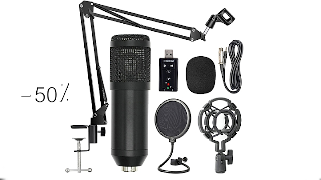BM800 Professional Suspension Microphone Kit Studio Live Stream