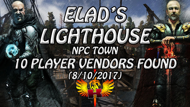 Elad's Lighthouse, NPC Town, 10 Player Vendors Found (8/10/2017) • Shroud Of The Avatar Market Watch