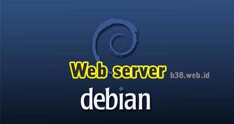 cara setting web server debian