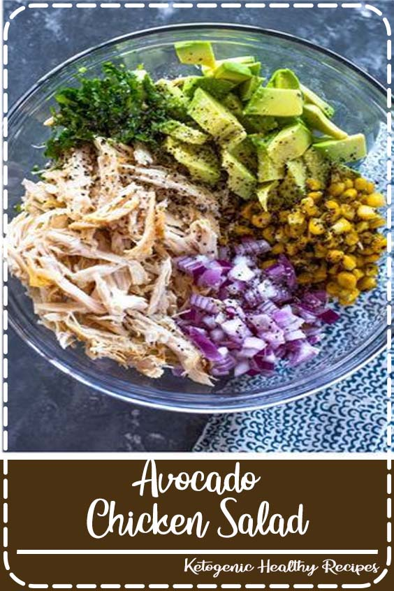 Take chicken salad to a new level with the addition of avocado. This naturally creamy chicken and avocado salad is healthy and contains no mayo or sour cream. Ever since I tried avocado in a grilled