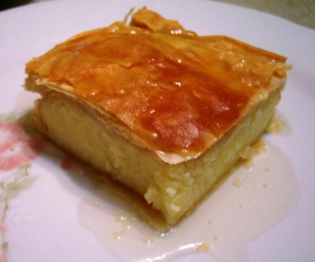 Pastel de Crema (Galaktoboureko)