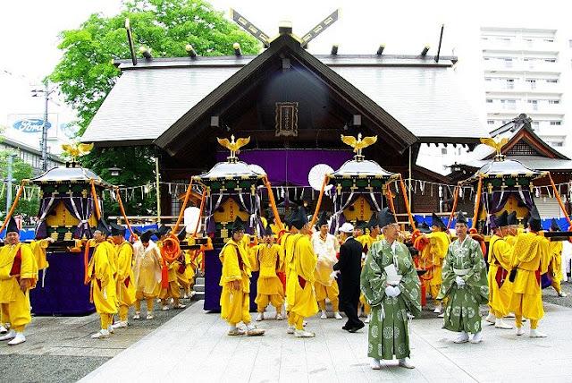 Sapporo Matsuri - Hokkaido-jingu Reisai, at Odori Park and others, Sapporo, Hokkaido