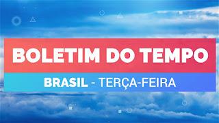 Previsão do tempo no Brasil de Terça-feira 29/09/20 - Sudeste - Sul - Norte - Nordeste - Centro-Oeste