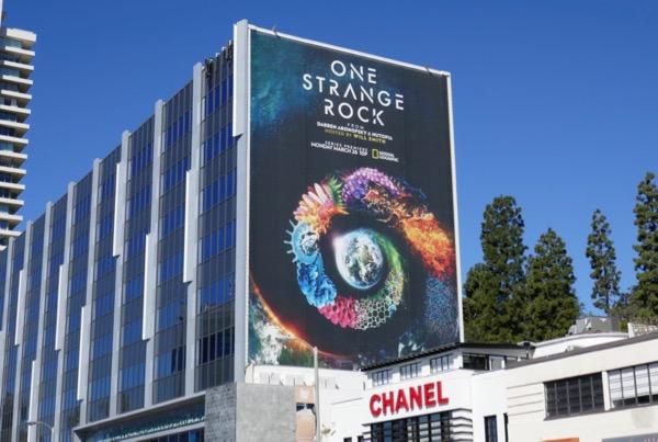 Giant One Strange Rock series billboard