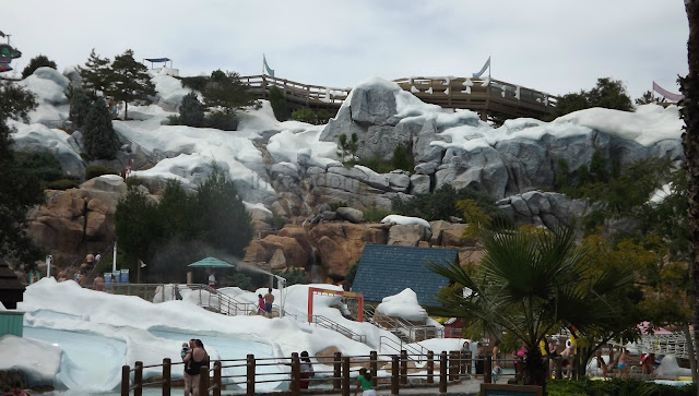 the slides at Blizzard Beach