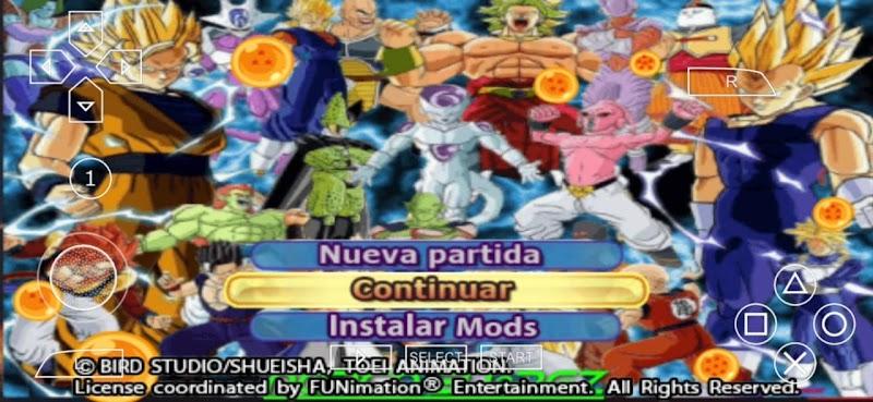 Dragon Ball Tenkaichi Tag Z DBZ TTT MOD ISO Download Android PSP Game