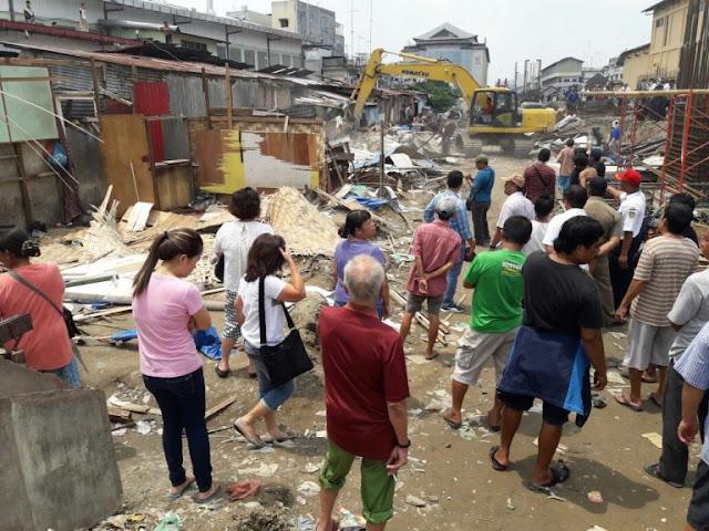 Terkena Imbas Pembangunan Rel KA Medan Kuala Namu, 21 Rumah Warga Jalan Timah di Rontokkan