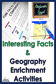 Interesting Facts and Geography Enrichment Activities