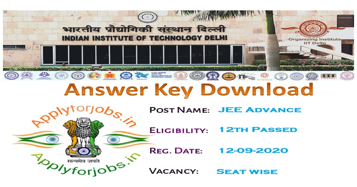 JEE Advanced Answer Key 2020