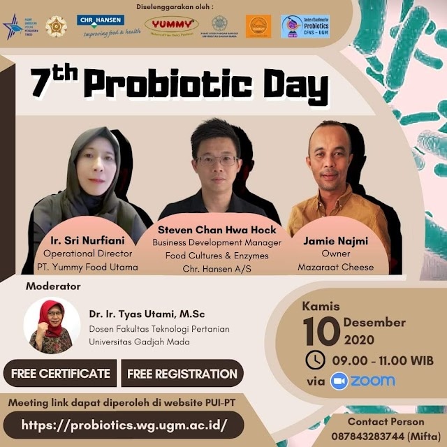 7th Probiotic Day Kamis, 10 Desember 2020