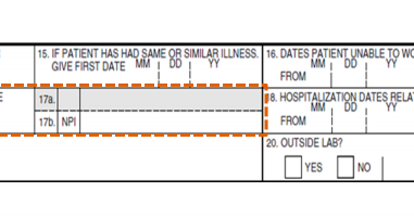 Who is Referring physician and ordering physician Box 17 | CMS 1500 Sample Pqrs Billing Hcfa Form Example on hipaa billing form, cms billing form, medicare billing form, ub04 billing form, ub billing form, medicaid billing form, ubo billing form, cpt billing form,