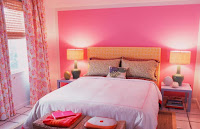 Pink wall color for bedroom