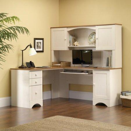 White Corner Desk: White Corner Desk With Drawers