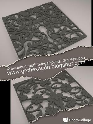 Krawangan GRC motif batik bunga