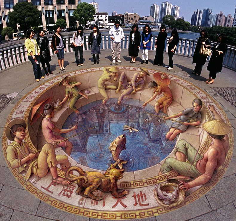 18-Fishing-in-Old-Shanghai-Kurt-Wenner-3D-Street-Pavement-Art-Painting-www-designstack-co