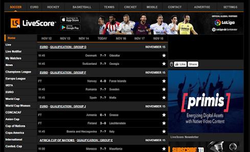 Live Score Image Example