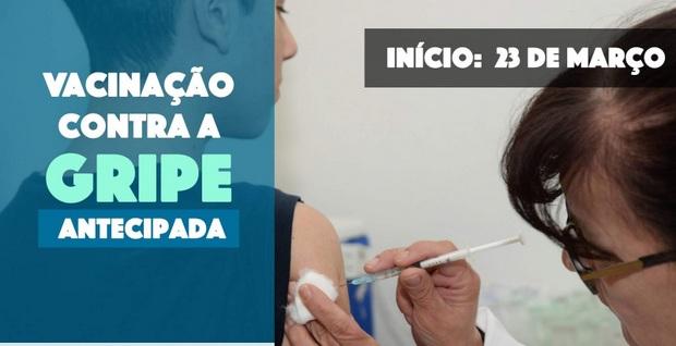 V GERES informa sobre antecipação da Campanha Nacional de Vacinação contra gripe