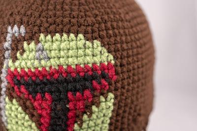 Star Wars Boba Fett Beanie with Bill  Free Crochet Hat Pattern