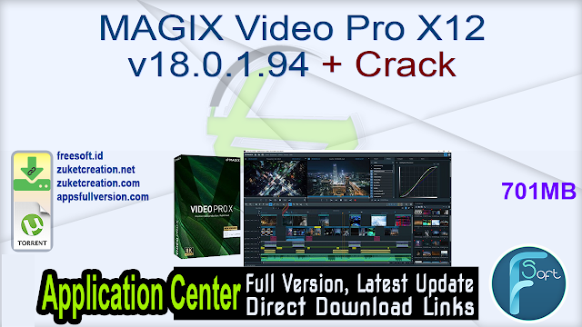 MAGIX Video Pro X12 v18.0.1.94 + Crack