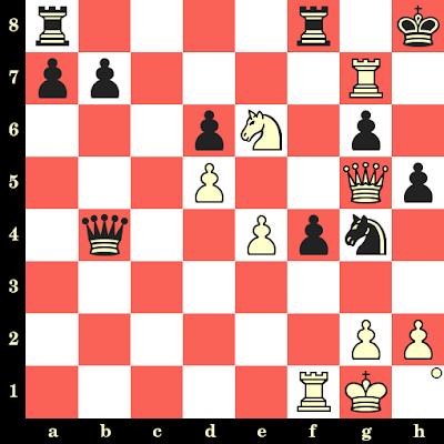 Les Blancs jouent et matent en 4 coups - Bent Larsen vs Suboticanec, Zagreb, 1955