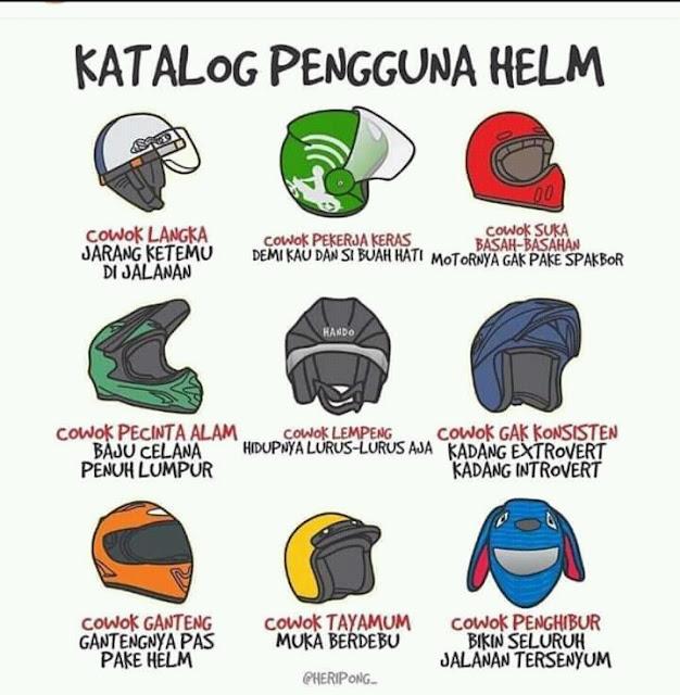 Begini Katalog Pengunaan Helm, Kamu Termasuk Yang Mana Sob?