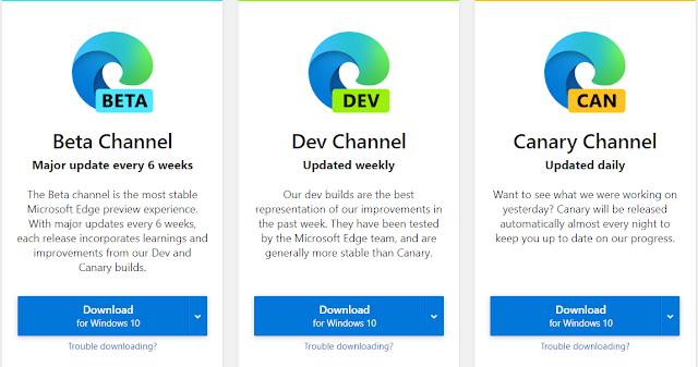 يستند تصميم Edge Dev لهذا الأسبوع إلى Chromium 80