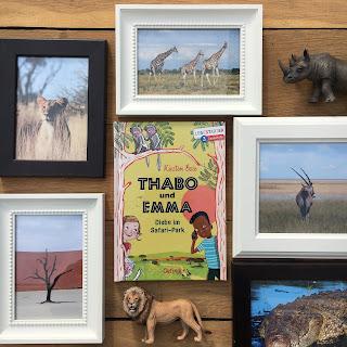 """""""Thabo und Emma: Diebe im Safari-Park"""" von Kirsten Boie, mit Bildern von Maja Bohn, erschienen im Oetinger Verlag, Rezension auf Kinderbuchblog Familienbuecherei"""