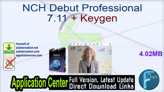 NCH Debut Professional 7.11 + Keygen