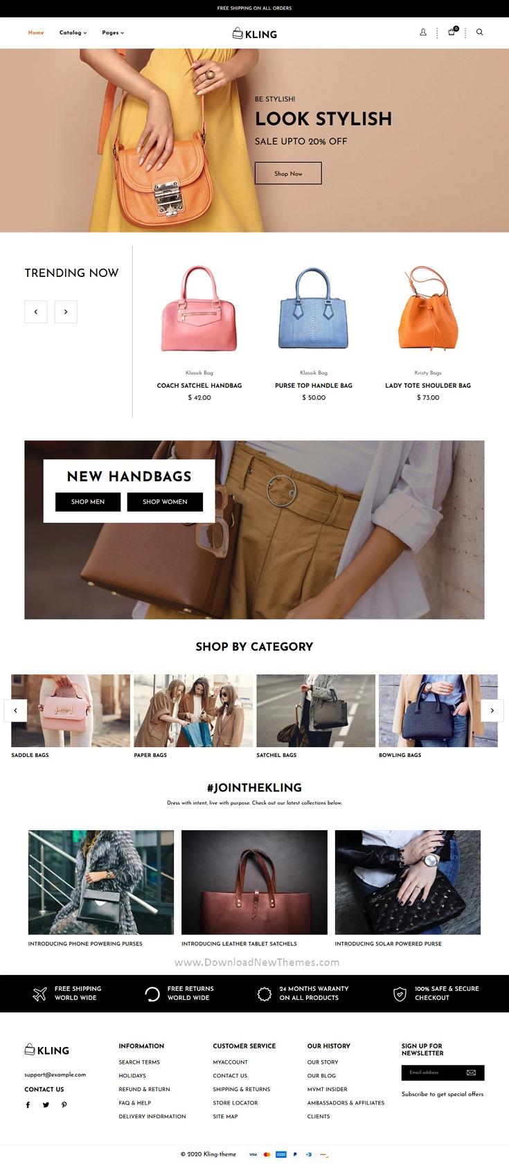 Bags, shoes Fashion Shopify Theme