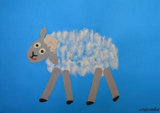 owca malowana palcami