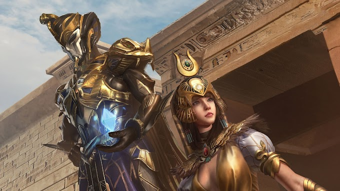 Wallpaper Golden Pharaoh X Suit Pubg