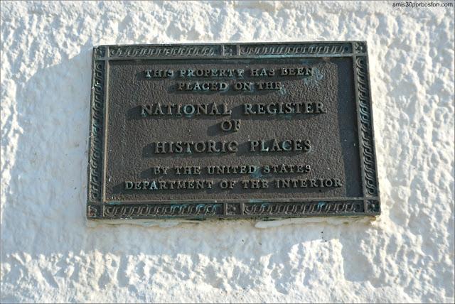 Placa del Registro Nacional de Lugares Históricos