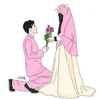 Muslim Couple Cartoon DP